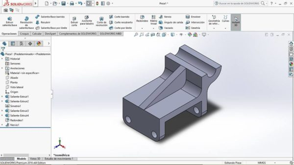 Tutorial ejercicio 4 solidworks